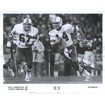 Press Photo New England Patriots Steve Grogan Lenkaitis - RRQ65985