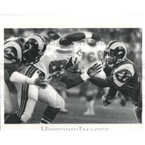 Press Photo Leroy Irvin Los Angeles Rams Football Playe - RRQ66195