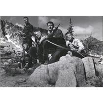 1957 Press Photo Outdoor Living Seattle Boys - RRQ65913