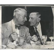 1949 Press Photo Burt Shotten & Casey Stengel Brooklyn Dodgers New York Yankees