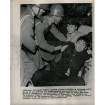 1960 Press Photo Protestors Demand Ikeda Resignation - RRX70359