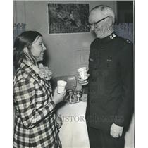 1972 Press Photo Brigadier Luther Smith, Miss Beth Fountain, Director Girl Lodge
