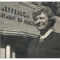 1970 Press Photo Miss Joyce Clements, new Welfare Chief of Jefferson County