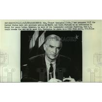1966 Press Photo Senator Stuart Symington proposed halt to military action