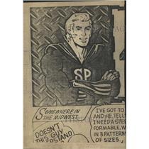 1974 Press Photo Super Plate Super Hero Cartoons Mich - RRW48085