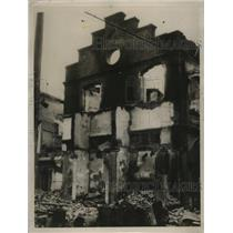 1937 Press Photo Buildings in Tientsin after Japanese Forces Gain Control