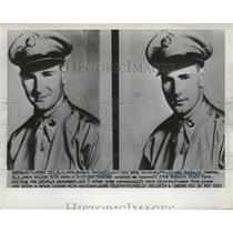 1951 Press Photo Pilots-Privates Robert and George Poola killed from jet crashed