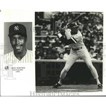 1981 Press Photo NY Yankee outfielder Dave Winfield in action - sba28470