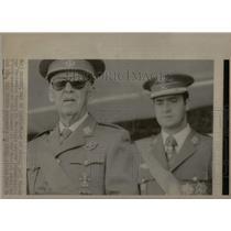 1975 Press Photo Spanish General Francisco Franco - RRX22257