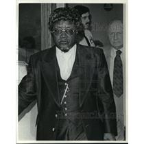1984 Press Photo New Hope Baptist Pastor, Civil Rights Leader Raymond Lee Lathan