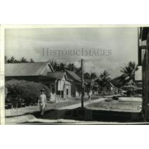 1942 Press Photo Chinese Quarter of Tulagi, in the Solomon Islands - mjc18466