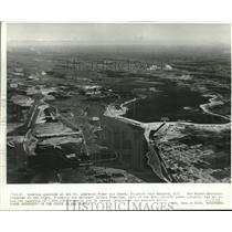 1959 Press Photo Aerial view of New York St. Lawrence Power and Seaway Projects