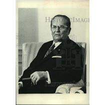 1972 Press Photo Josip Broz Tito President of Yugoslavia - mjc22846
