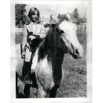 1981 Press Photo Jenny Carr,11 year old horse rider - RRX57991