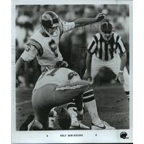 1984 Press Photo Chargers Football - Rolf Benirschke, Field Goal Kicker