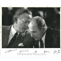 1993 Press Photo Christopher Hemmeter & Tom Robinson at City Planning Commission