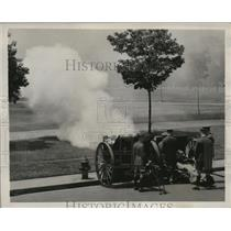 1939 Press Photo cannon was fired for arrival of King George and Queen Elizabeth