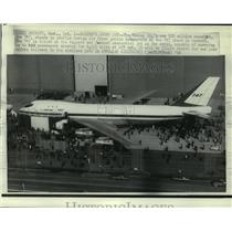 1968 Press Photo The Boeing Company's new $20 million superjet, the 747