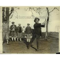 1926 Press Photo Al Smith Gov of New York State Tees Off at Seaview Golf Club