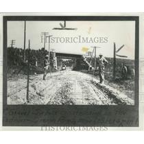 1915 Press Photo Work on U.S Highway 14, near Madison Wisconsin