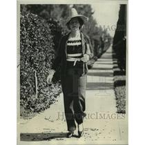1935 Press Photo Mrs Leonard Thomas Spends Winter in Palm Beach Florida