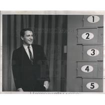 """1964 Press Photo Merv Griffin """"Word for Word"""""""