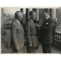 1929 Press Photo Sergeant Jens Jensen receives National Rifle Association Medal