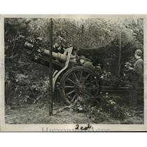 1939 Press Photo Camouflage Howitzer at the recent maneuver in Finland