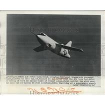 1949 Press Photo Douglas Skyrocket Research plane launched at Muroc Air Base