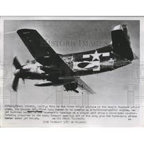1952 Press Photo The American bomber  Douglas A2D plane  during first flight