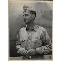 1944 Press Photo Major Dusty Rhodes Official Pilot of General Douglas MacArthur