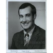 1970 Press Photo Philadelphia 76ers basketball business manager, Pat Williams