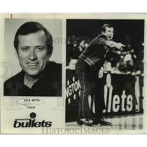 1978 Press Photo Washington Bullets basketball coach Dick Motta - sas14877