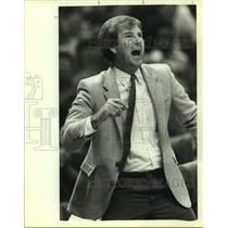 1983 Press Photo San Antonio Spurs coach Morris McHone - sas14155