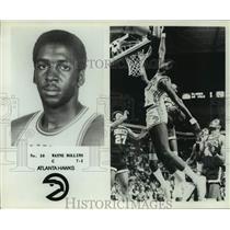 "Press Photo Atlanta Hawks basketball player Wayne ""Tree"" Rollins - sas14265"