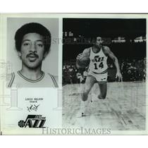 Press Photo New Orleans Jazz basketball player Louie Nelson - sas14267