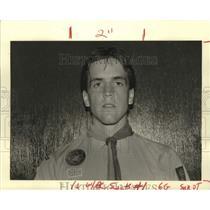 1987 Press Photo Daniel Hotchkiss, International Scout in Hancock, Mississippi