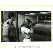 1994 Press Photo Participant in the Hunter Education and Firearm Safety Course.