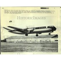 1971 Press Photo A British European Airways Vanguard aircraft takes off