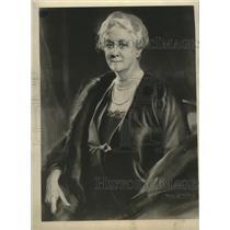 1934 Press Photo Tade Styka Portrait of Mrs. James Roosevelt at the White House
