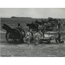 1936 Press Photo British Militiamen Receiving Gunnery Training in England