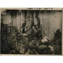 """1919 Press Photo Marshal Foch receives """"welcome home"""" celebration in Farbes"""