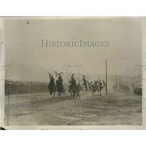 1927 Press Photo Spanish King and Queen view Regular Cavalry in Morocco