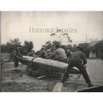1939 Press Photo French Sailors prepare a tornado at Bizerta Tunisian Naval Base