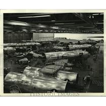 1958 Press Photo Boeing 707 airplanes being built at the Boeing plant