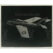 1954 Press Photo Republic F-84F Thunderstreak to be on display at air show