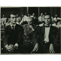 """1069 Press Photo Dean Stockwell & Bradford Dillman star in """"Compulsion"""""""