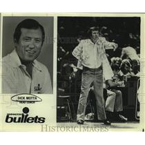 Press Photo Washington Bullets basketball coach Dick Motta - sas14879