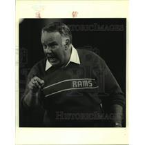 Press Photo Los Angeles Rams football coach John Robinson - sas15290