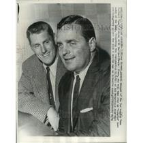 1962 Press Photo Elroy Hirsch and Harland Svare, head coach Los Angeles Rams.
